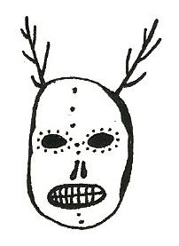 Human skulls have antlers.